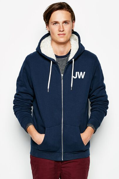 WHITELAW SHERPA LINED ZIP UP HOODIE