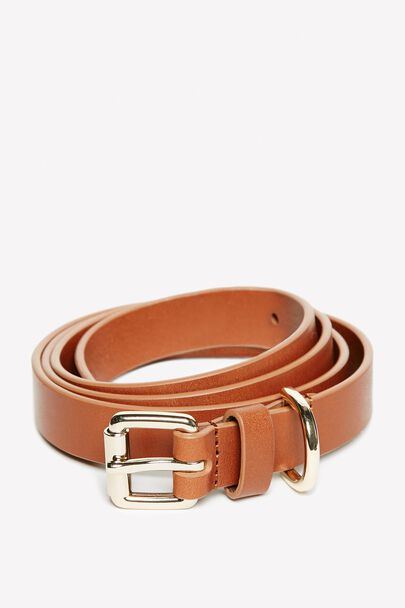 HUNTLYWOOD SKINNY LEATHER BELT