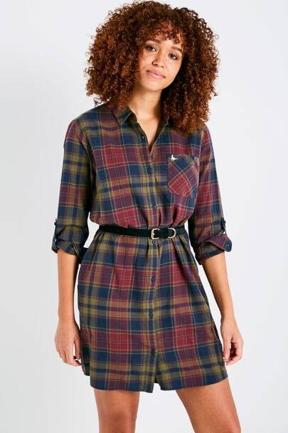 MAGGIE CHECK SHIRT DRESS