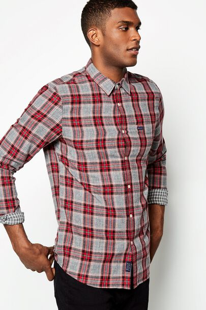 DARGAVEL TWO SIDED CHECK FLANNEL SHIRT