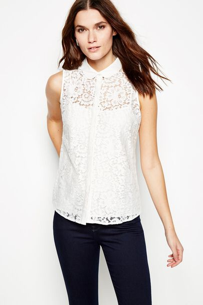 HEYTHORPE SLEEVELESS LACE SHIRT