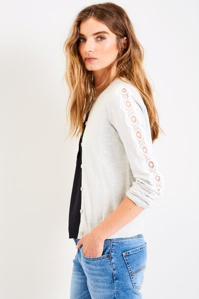 HESTER LACE SLEEVE CARDIGAN