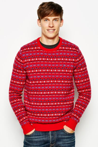 JARDELLE PATTERNED CREW NECK JUMPER
