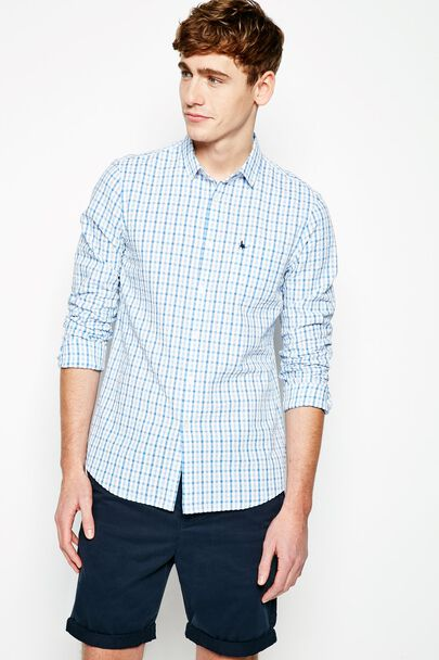 SALCOMBE SEERSUCKER CHECK SHIRT
