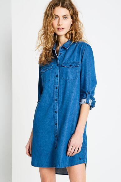 MAGGIE SHIRT DRESS INDIGO