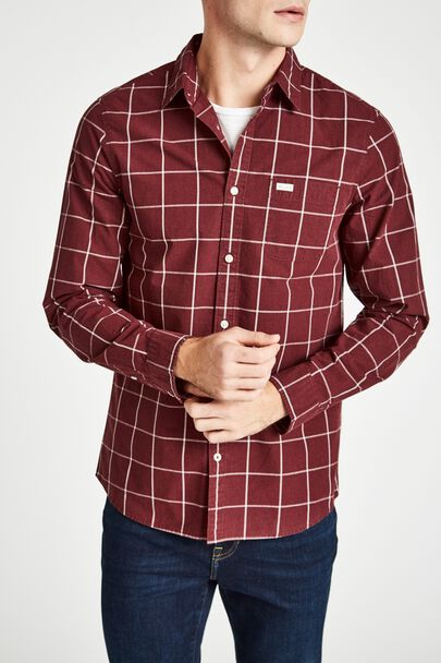 BLANFORD POPLIN WINDOWPANE CHECK SHIRT
