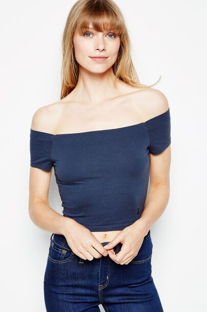 TREBEATH OFF SHOULDER CROP TOP