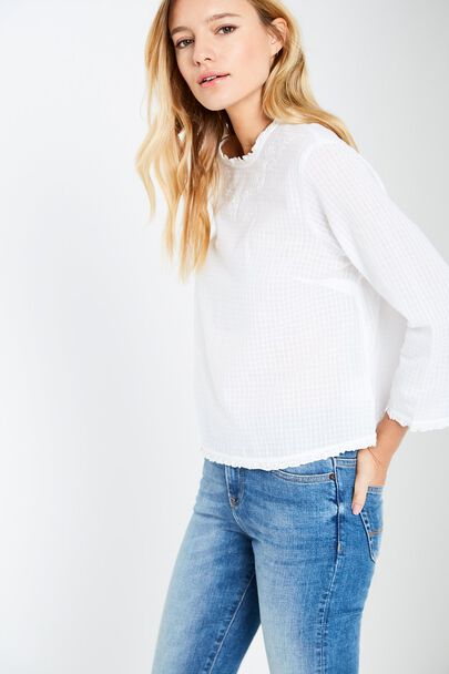 CASTLEY EMBROIDERED TOP