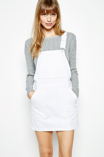 AVONDOWN DENIM PINAFORE DRESS
