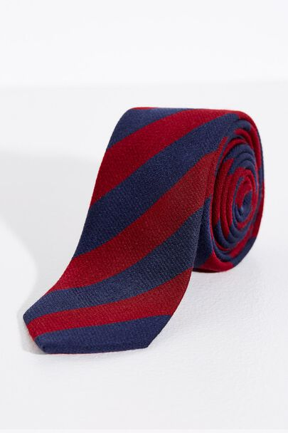 BATHEASTON WOOL STRIPE TIE