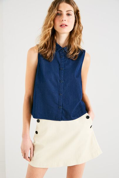 NEYLAND CROPPED SLEEVELESS SHIRT