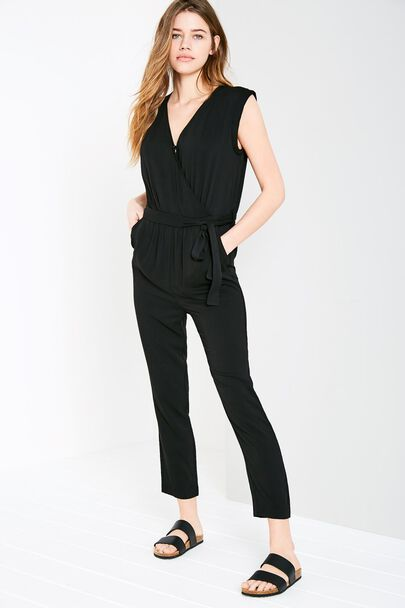 GREENCROFT WRAP FRONT JUMPSUIT