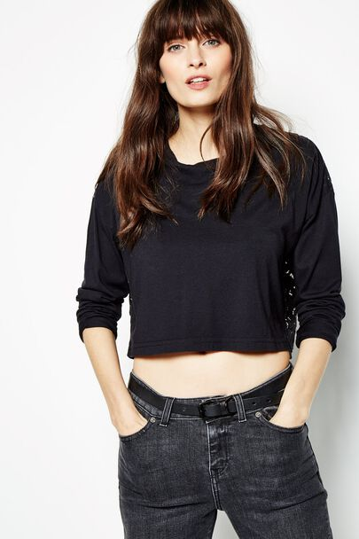 CRESENTDALE LONG SLEEVE LACE TOP