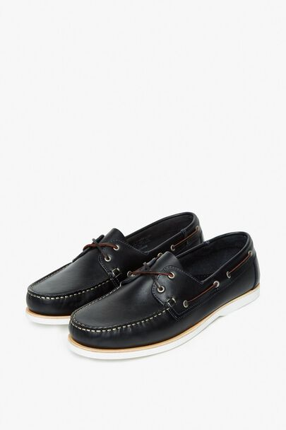 SOMERCOTES LEATHER BOAT SHOE