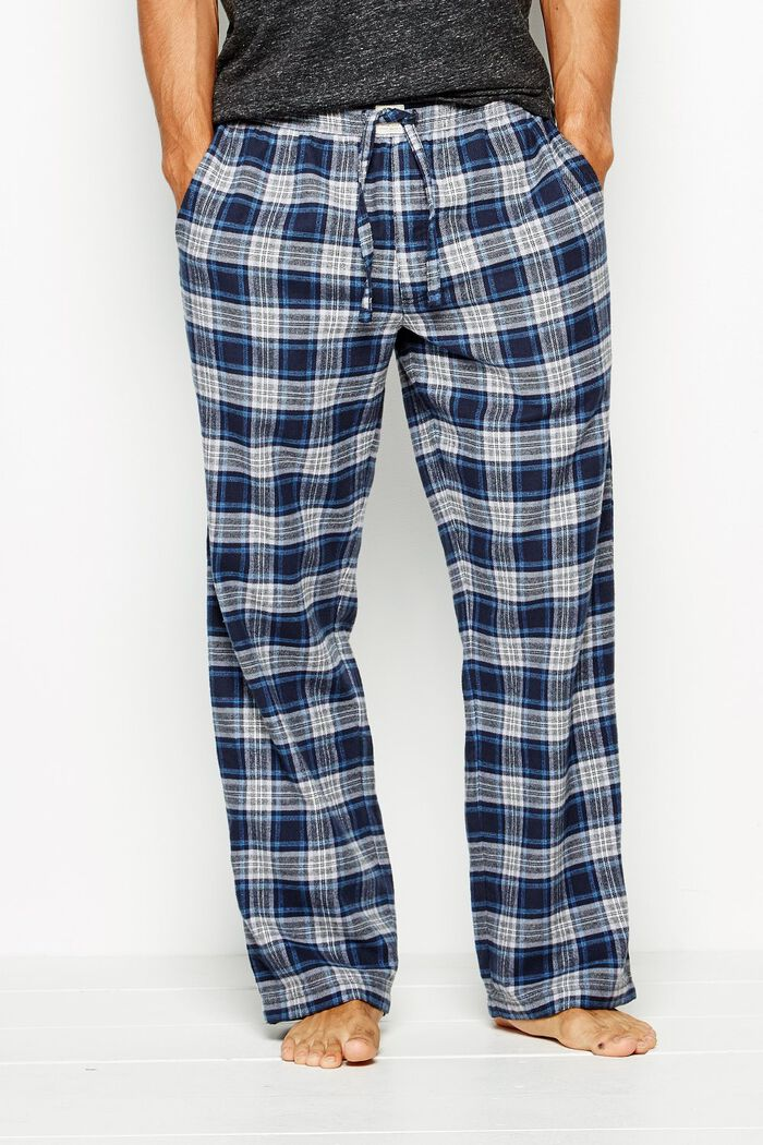 Product photo of Blakebrook check flannel lounge pant navy