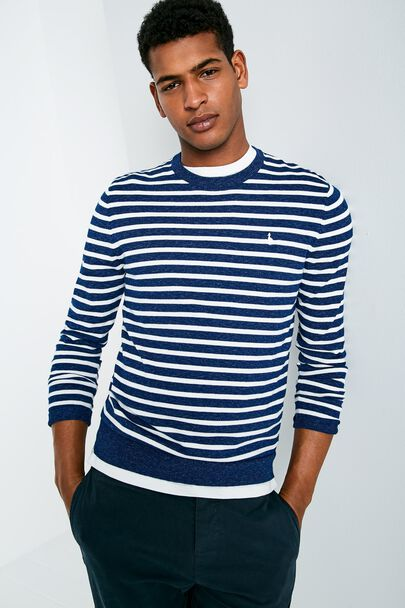 SEABOURNE CREW NECK STRIPE SWEATER