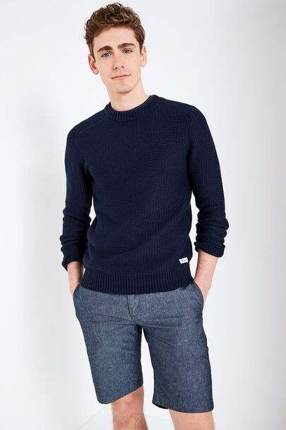ETTINGTON TEXTURED STITCH CREW NECK SWEATER