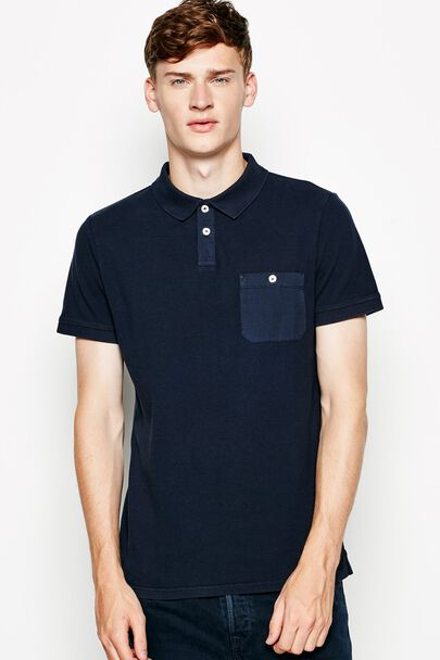 COLLINS GARMENT DYED POLO SHIRT