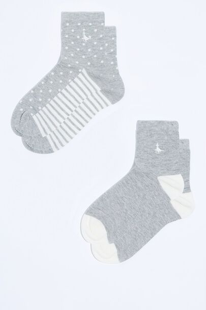 PULLBOROUGH 2 PACK ANKLE SOCKS
