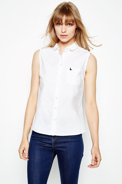 LUTTON SLEEVELESS OXFORD SHIRT
