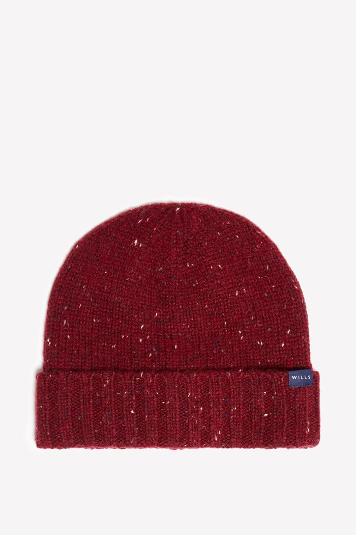 Product photo of Learmonth cable beanie hat damson
