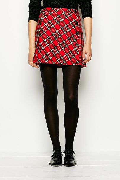 NADDLE WOOL TARTAN SKIRT