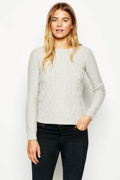 THORNWAITE CABLE CREW NECK JUMPER