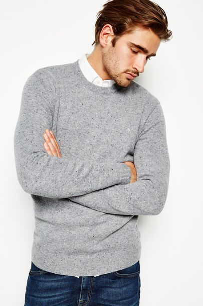 RYE MERINO DONEGAL CREW NECK SWEATER