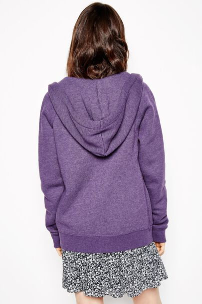 GLENDALE ZIP UP HOODIEGLENDALE ZIP UP HOODIE PURPLE