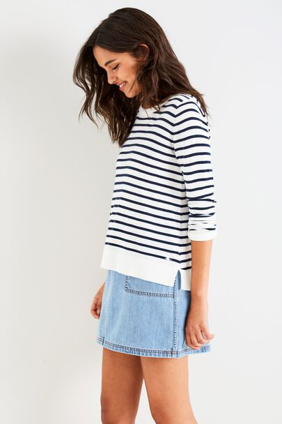 SOWERBY RELAXED FIT STRIPED SWEATER