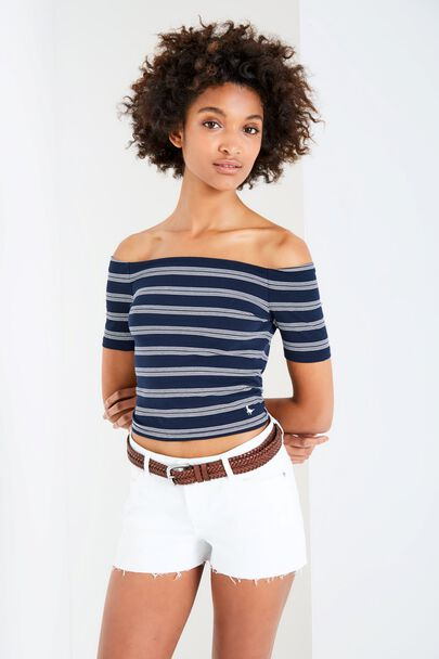 ECKINGTON STRIPED OFF SHOULDER TOP