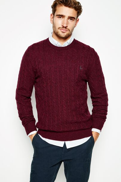 MARLOW MERINO CREW NECK SWEATER