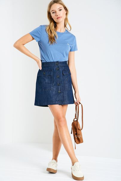 AVISON DENIM PATCH POCKET SKIRT