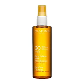 Spray Solaire Huile Embellissante Corps et cheveux UVA/ UVB 30 - Huile Solaire - CLARINS