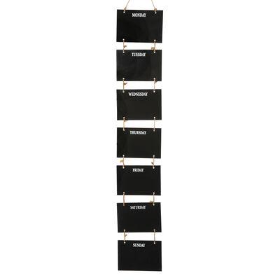 Tafeldeko Wochenplaner Mischholz schwarz ca B:16 x L:86 cm