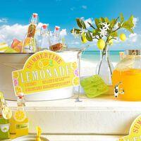 Schild Lemonade, ca L:30cm, gelb