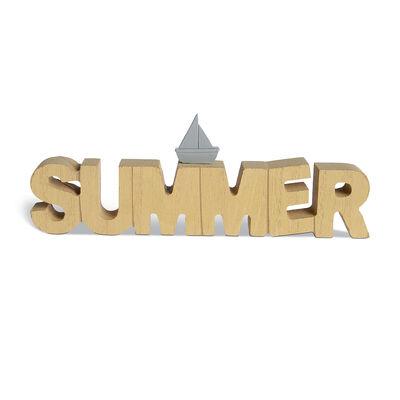 Schriftzug Summer Mischholz natur ca L:18,5 cm