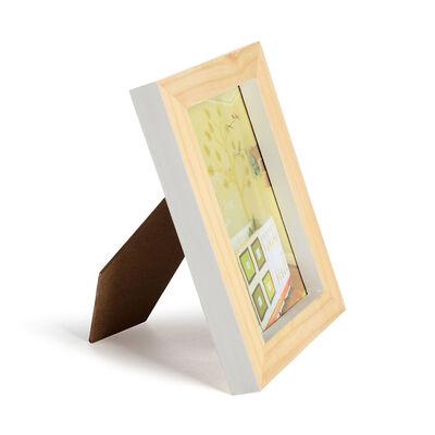 Bilderrahmen Pinienholz weiß 13x18 cm