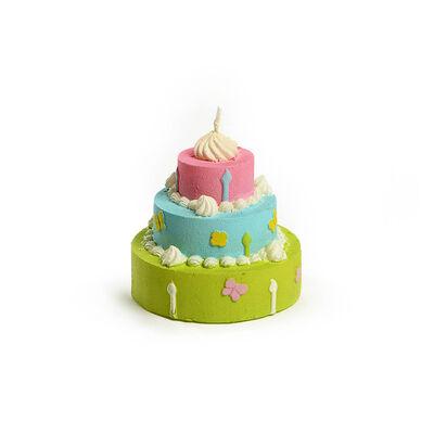 Kerze Geburtstagstorte ca D:8 x H:8 cm