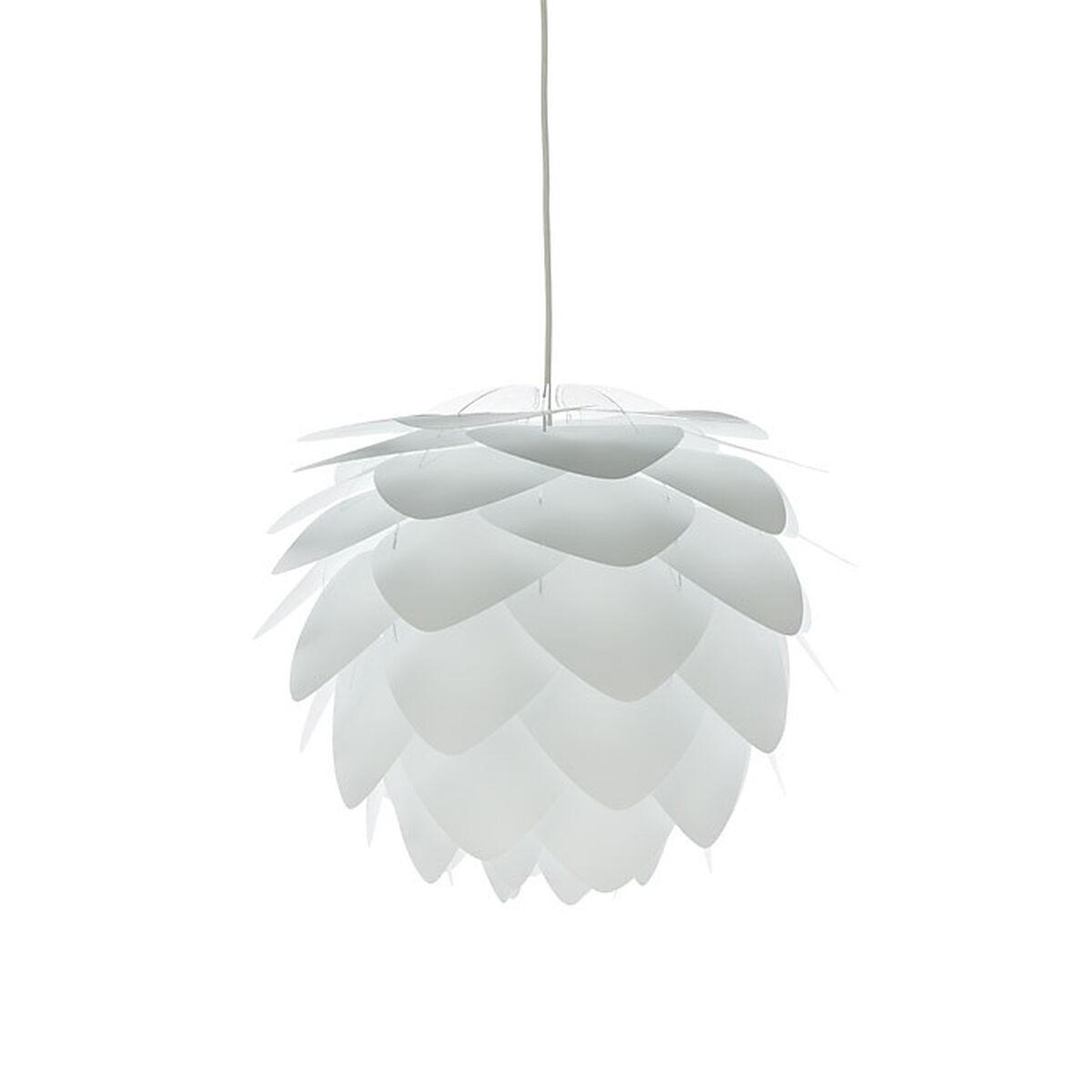 Designerlampe zerlegt, weiß