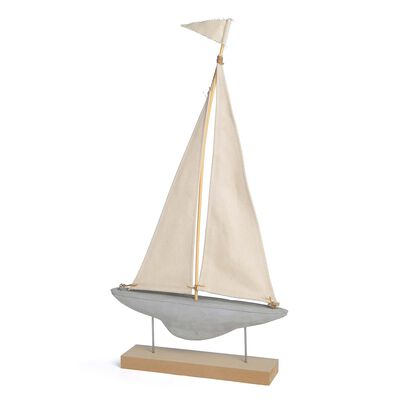 Dekoobjekt Segelschiff Mischholz creme ca H:69 cm