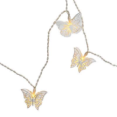 Lichterkette Schmetterlinge Outdoor weiß ca L:200 cm