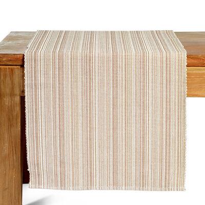 Tischläufer ripp meliert beige ca. 40x150cm (100% Baumwolle)