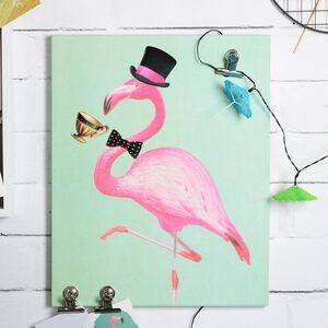 Magnettafel Flamingo aus Mischholz, ca B:40cm x L:50cm, mintgrün