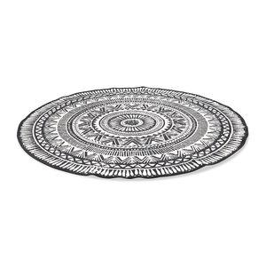 Teppich aus Baumwolle, ca D:120cm, schwarz