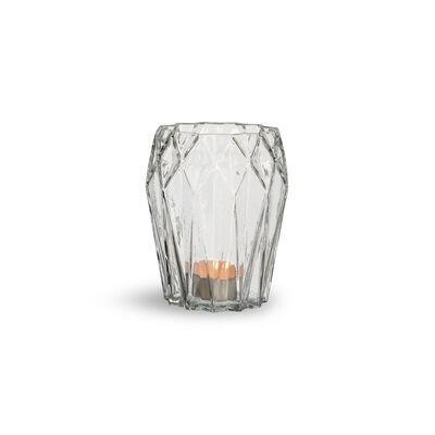 Windlicht Glas klar ca D:11 x H:13 cm