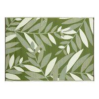 Outdoor-Teppich mit Blättermotiv, ca L:90cm x B:150cm, grün