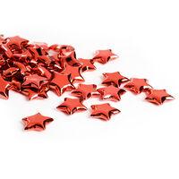 Streuartikel Sterne Metallic bordeaux ca 260 ml