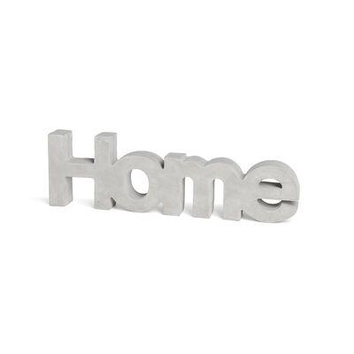 Schriftzug Home Zement grau ca L:30 cm