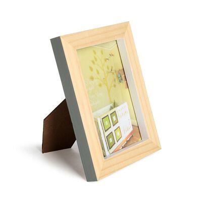 Bilderrahmen Pinienholz grau-grün 13x18 cm